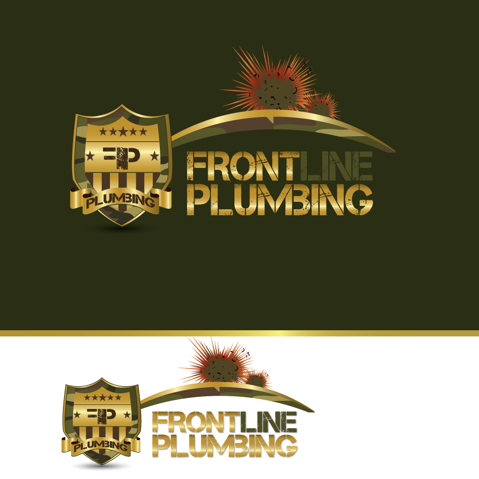Logo Design by moonflower - Entry No. 82 in the Logo Design Contest Fun Logo Design for Front Line Plumbing.