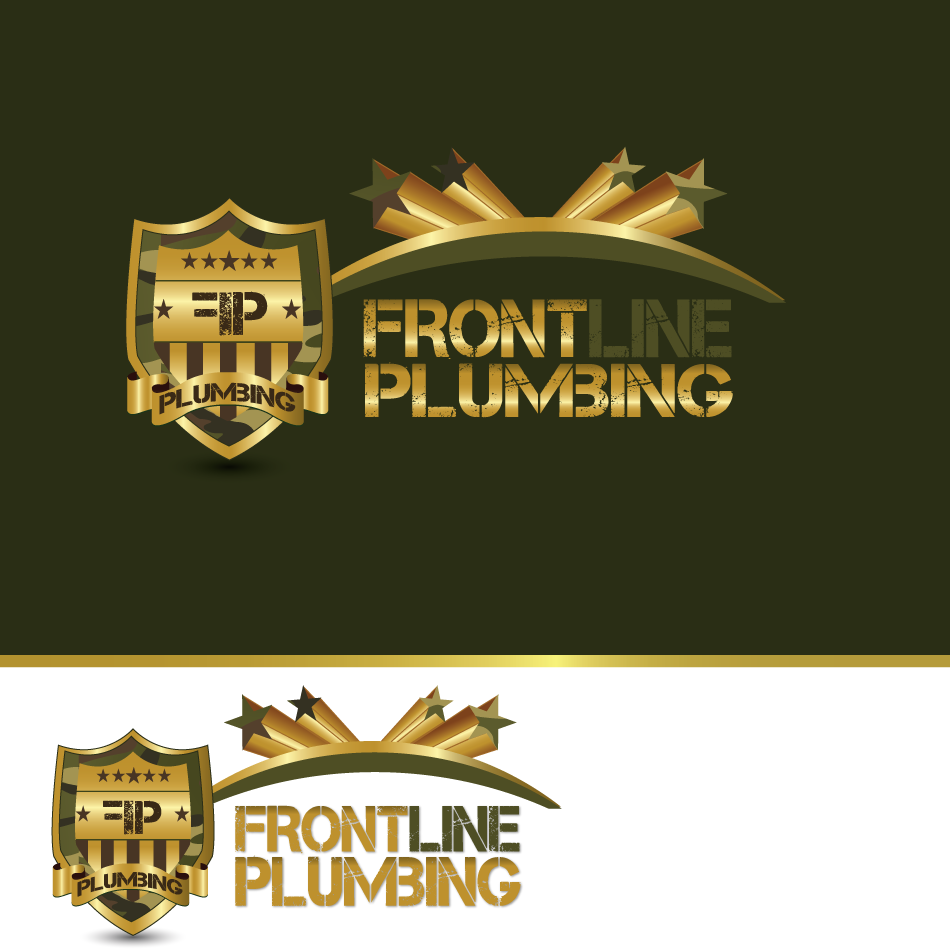 Logo Design by moonflower - Entry No. 83 in the Logo Design Contest Fun Logo Design for Front Line Plumbing.