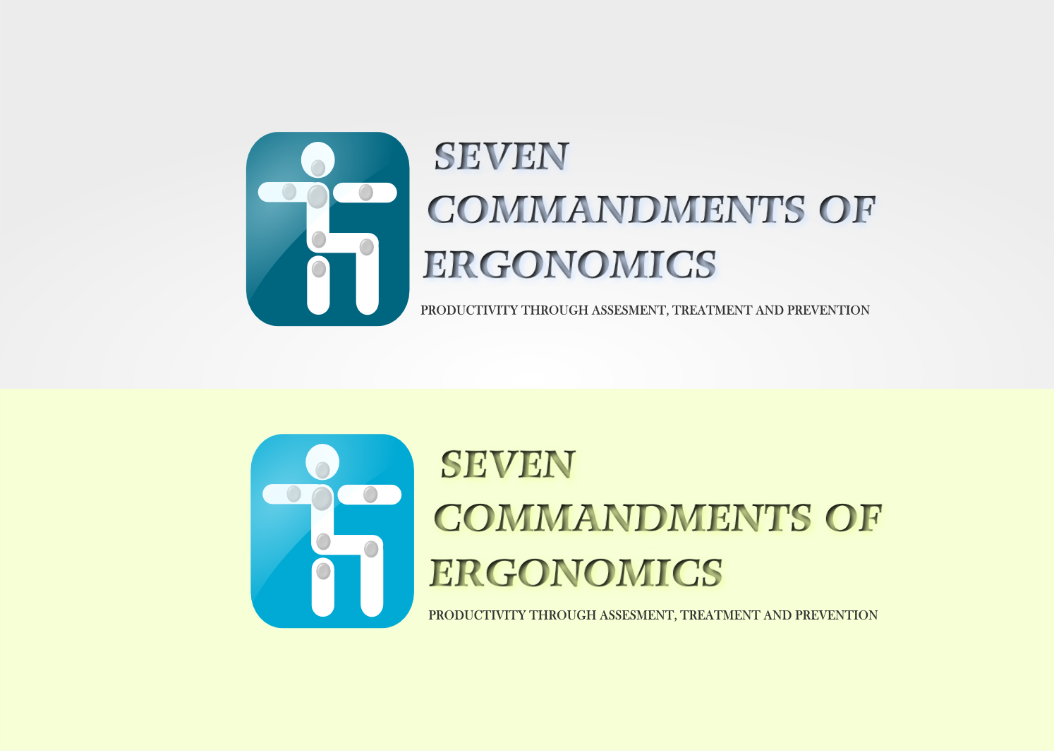 Logo Design by Joseph calunsag Cagaanan - Entry No. 131 in the Logo Design Contest Logo Design for Seven Commandments of Ergonomics.