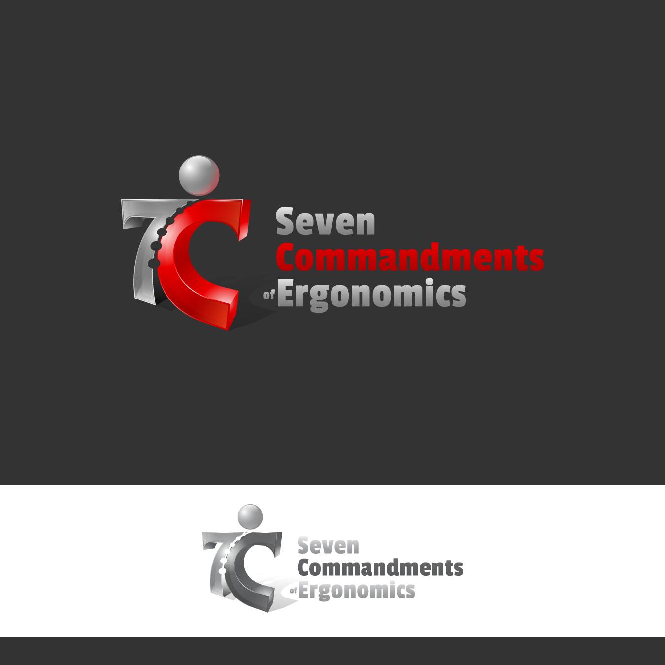 Logo Design by zesthar - Entry No. 138 in the Logo Design Contest Logo Design for Seven Commandments of Ergonomics.