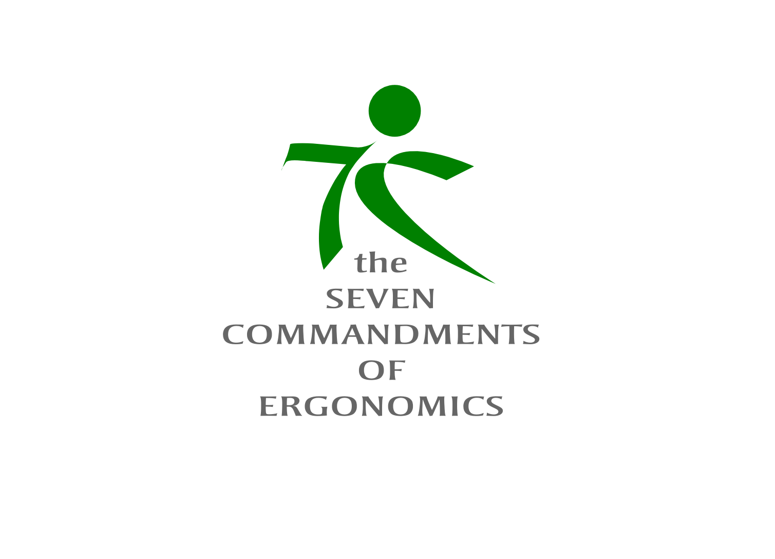 Logo Design by whoosef - Entry No. 139 in the Logo Design Contest Logo Design for Seven Commandments of Ergonomics.
