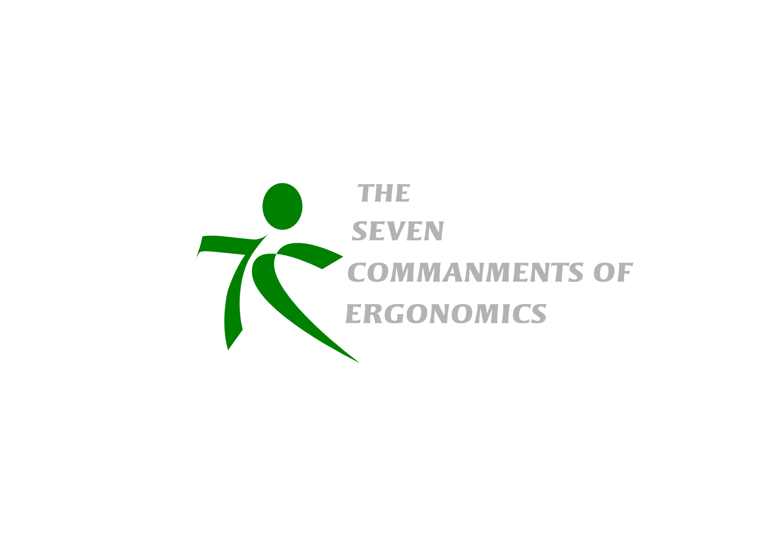 Logo Design by whoosef - Entry No. 141 in the Logo Design Contest Logo Design for Seven Commandments of Ergonomics.