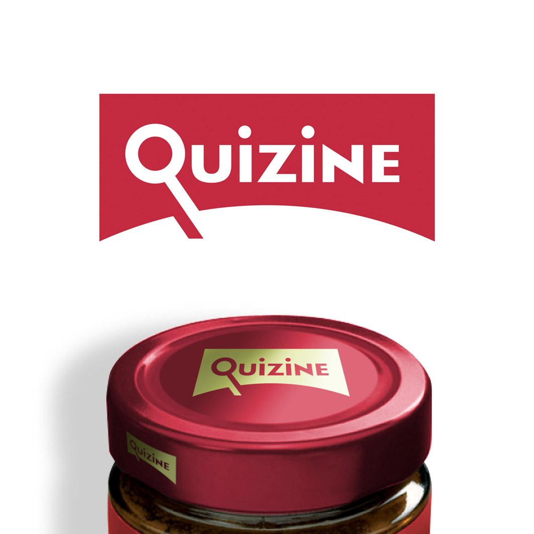 Logo Design by ARTUR PALKA - Entry No. 100 in the Logo Design Contest Quizine Logo Design.