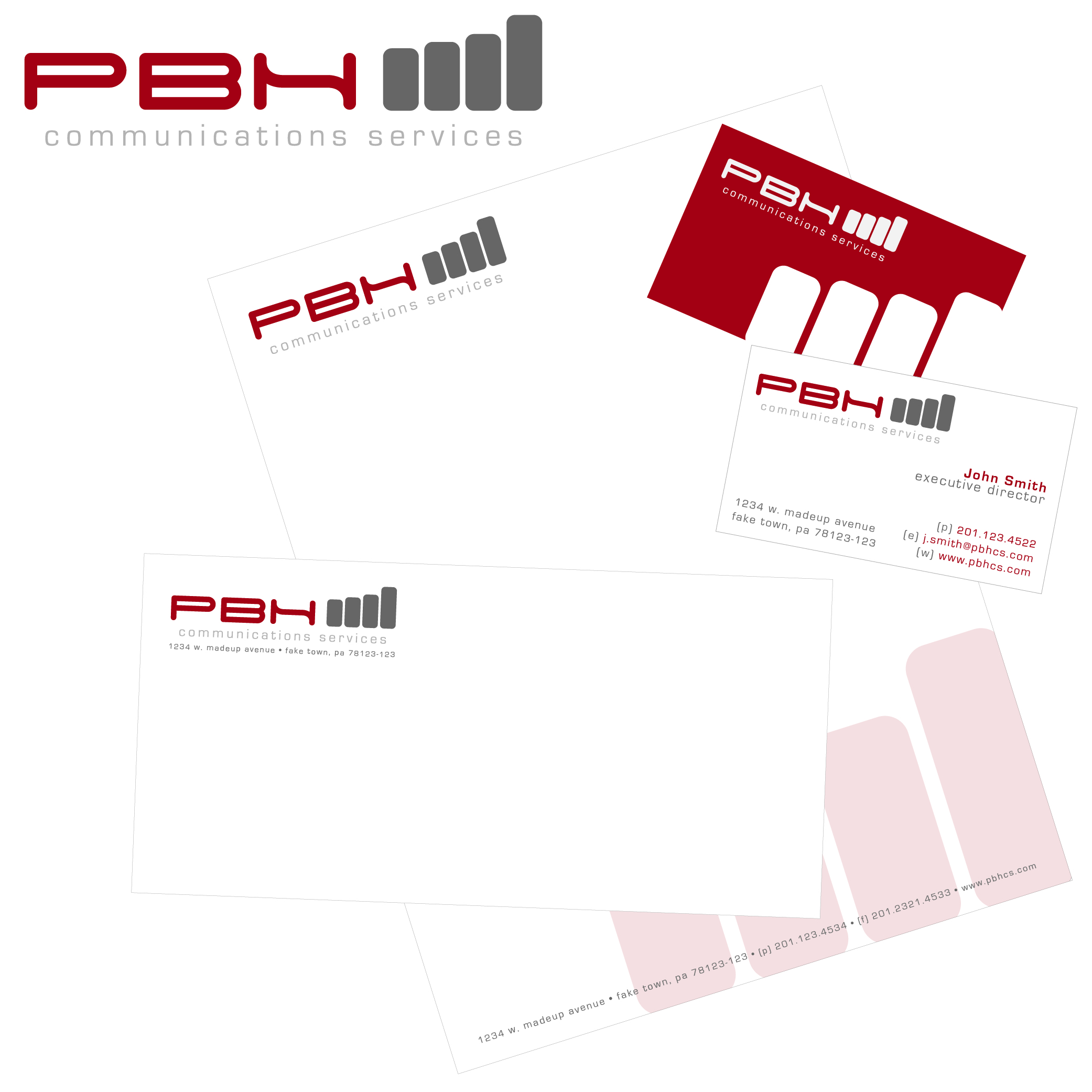 Business Card Design by hmdesigns - Entry No. 4 in the Business Card Design Contest PBH Communications Services Stationery Design.
