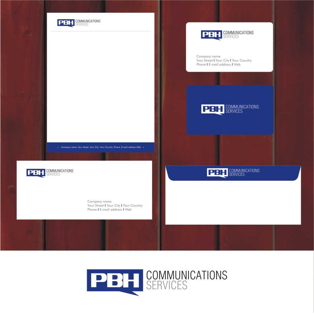 Business Card Design by Private User - Entry No. 10 in the Business Card Design Contest PBH Communications Services Stationery Design.