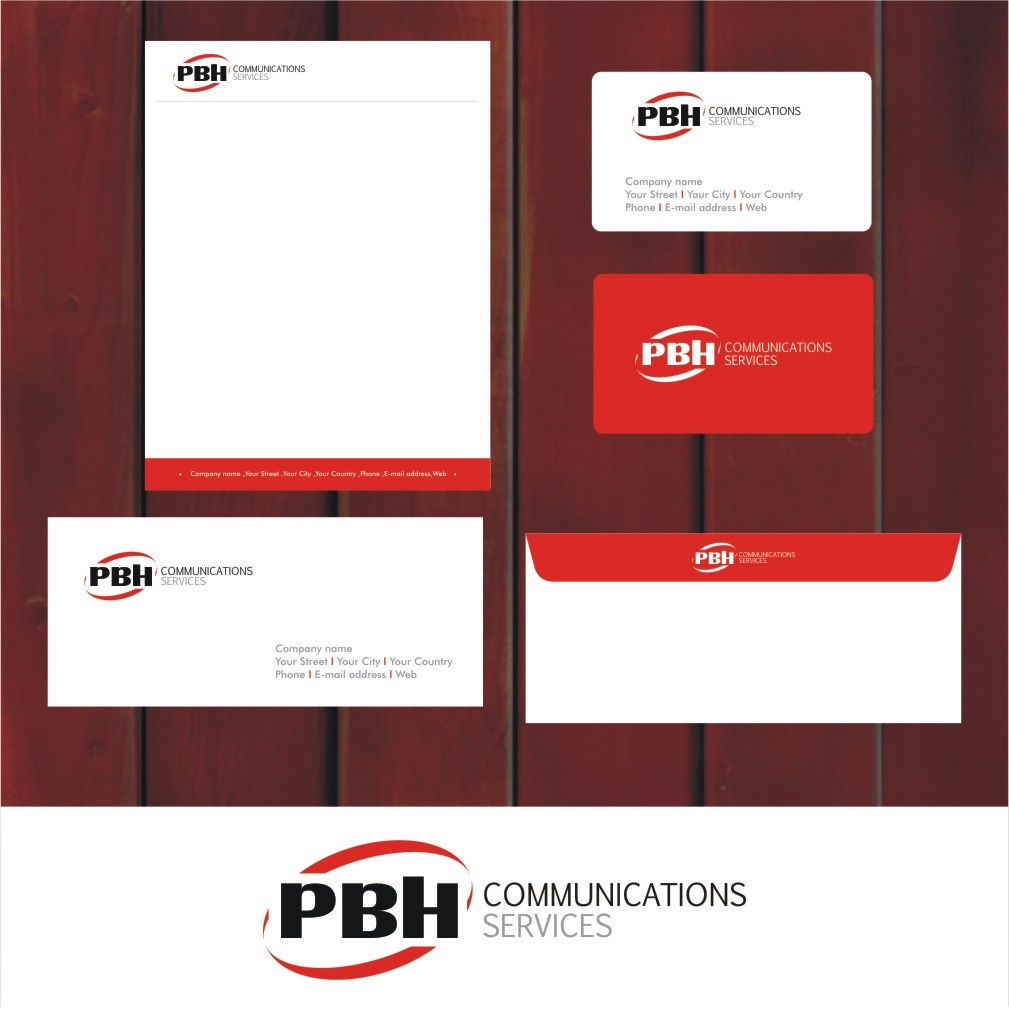Business Card Design by Private User - Entry No. 11 in the Business Card Design Contest PBH Communications Services Stationery Design.