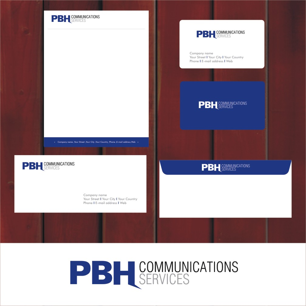 Business Card Design by Private User - Entry No. 13 in the Business Card Design Contest PBH Communications Services Stationery Design.