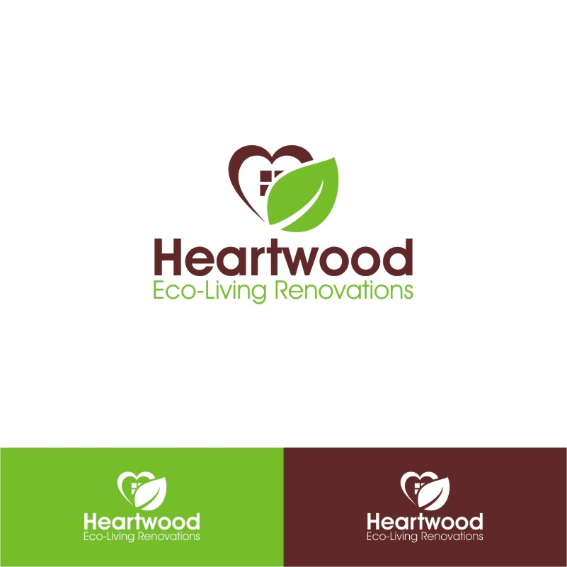 Logo Design by Private User - Entry No. 6 in the Logo Design Contest New Logo Design for Heartwood Eco-Living Renovations.