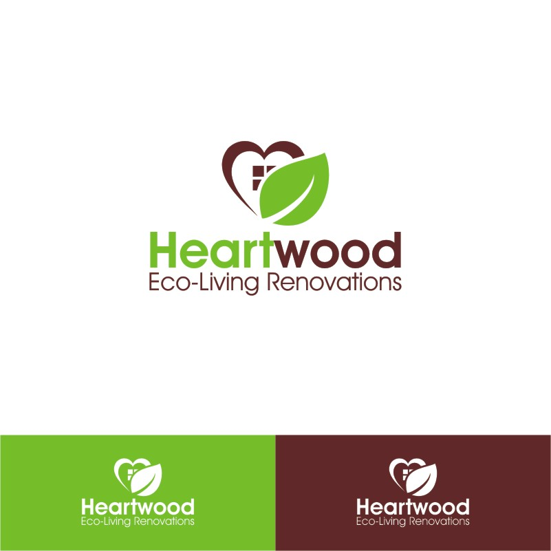 Logo Design by Private User - Entry No. 7 in the Logo Design Contest New Logo Design for Heartwood Eco-Living Renovations.
