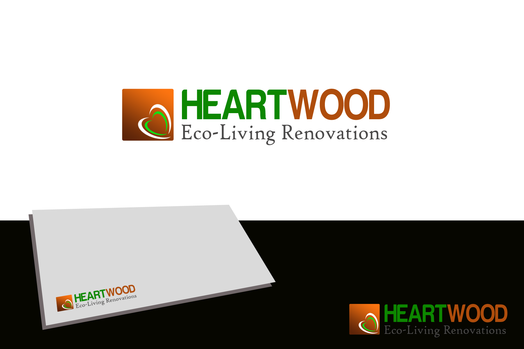 Logo Design by Golden_Hand - Entry No. 8 in the Logo Design Contest New Logo Design for Heartwood Eco-Living Renovations.