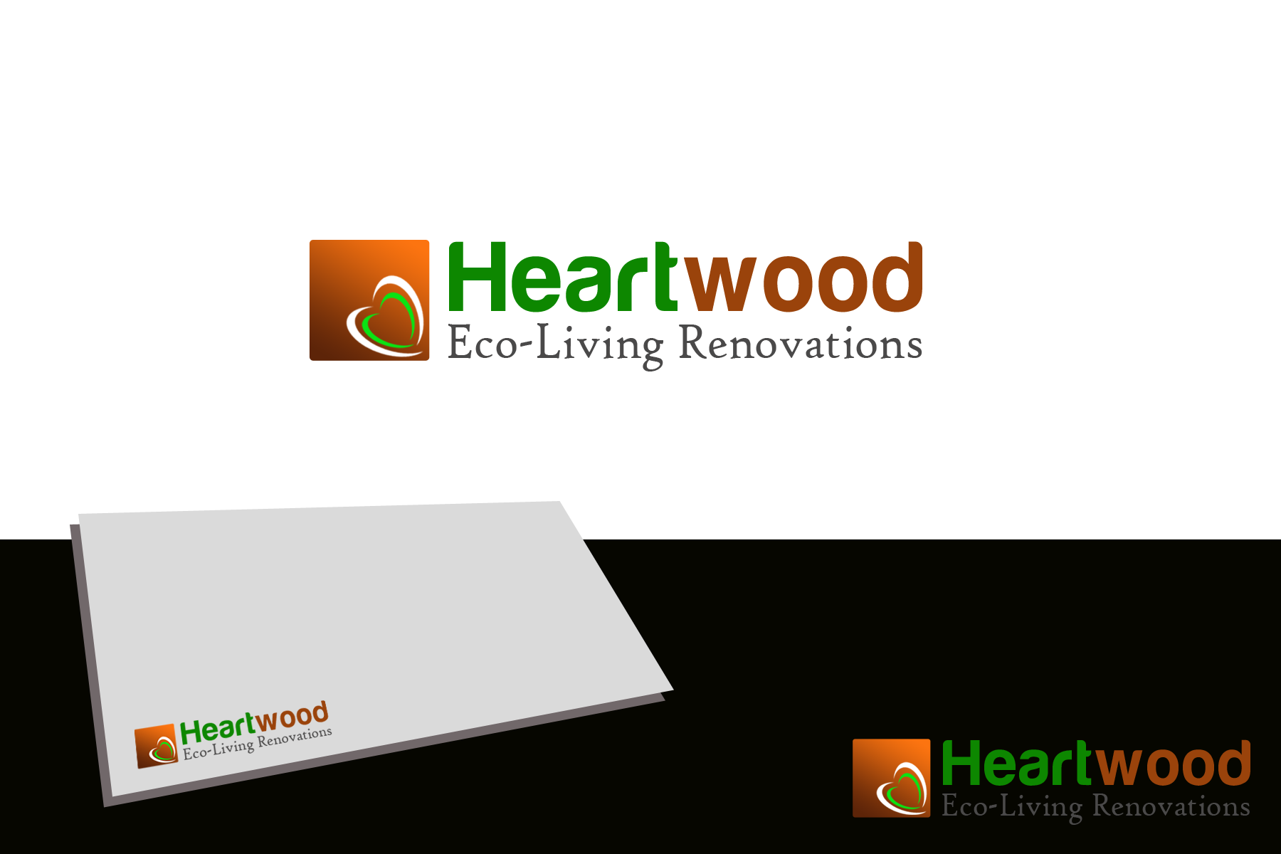 Logo Design by golden-hand - Entry No. 9 in the Logo Design Contest New Logo Design for Heartwood Eco-Living Renovations.