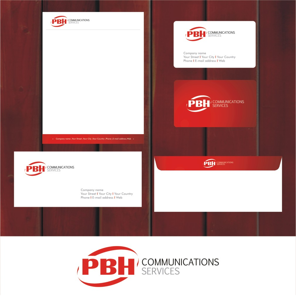 Business Card Design by Private User - Entry No. 16 in the Business Card Design Contest PBH Communications Services Stationery Design.