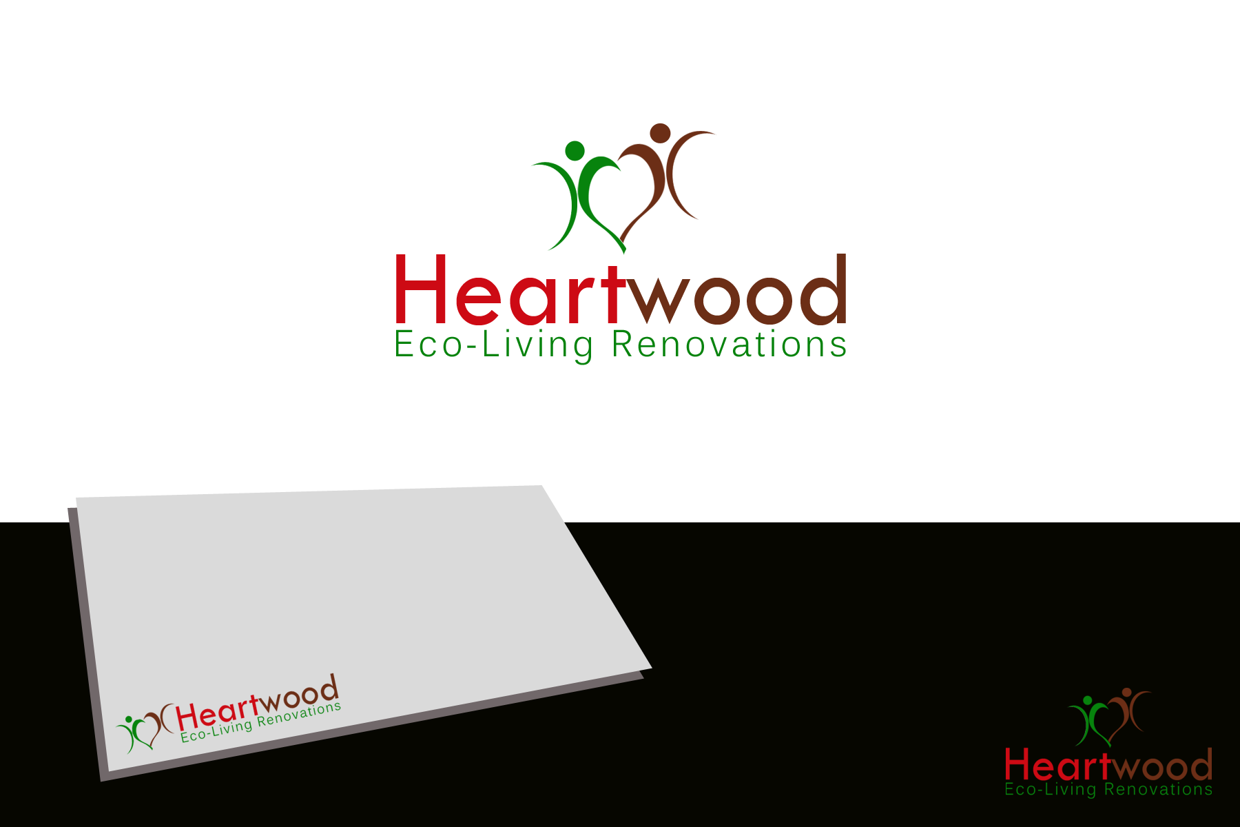 Logo Design by Golden_Hand - Entry No. 11 in the Logo Design Contest New Logo Design for Heartwood Eco-Living Renovations.