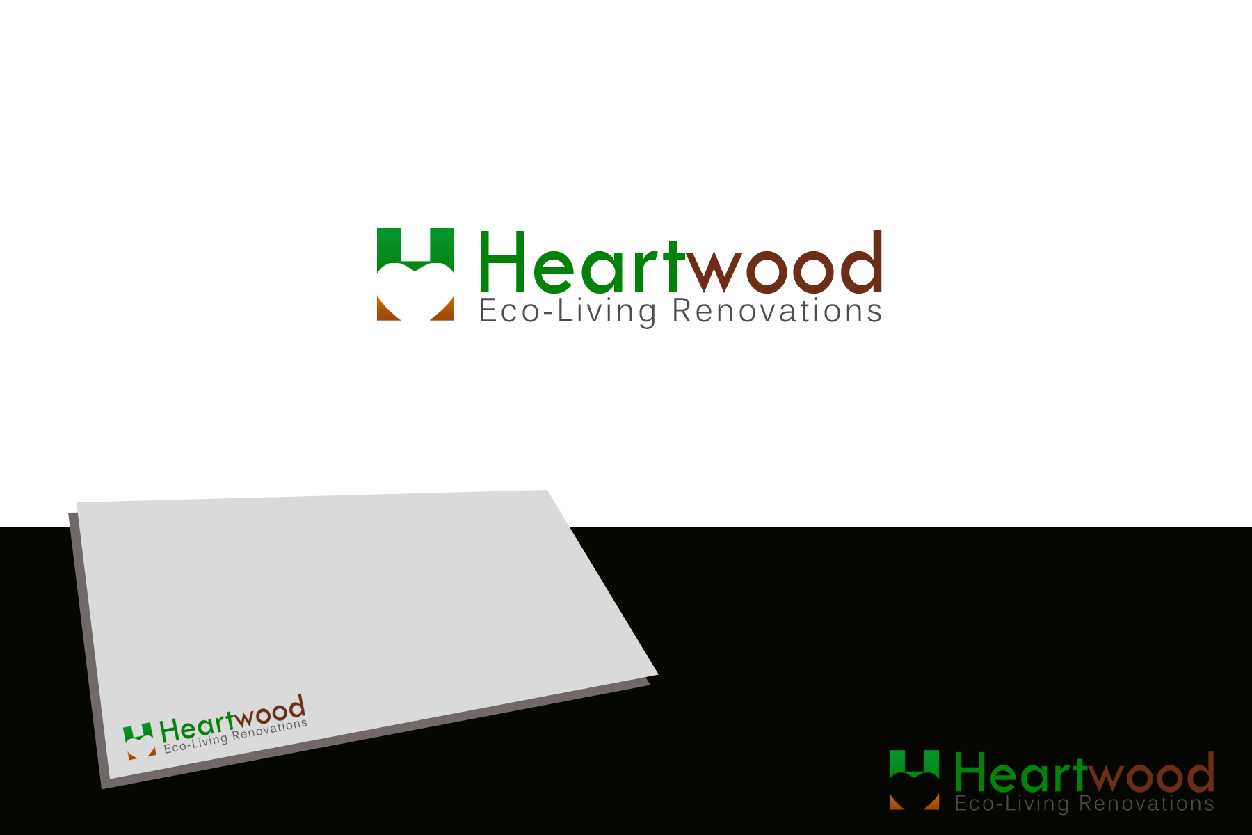 Logo Design by golden-hand - Entry No. 12 in the Logo Design Contest New Logo Design for Heartwood Eco-Living Renovations.