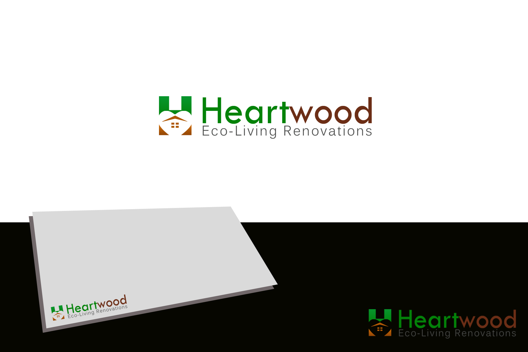 Logo Design by golden-hand - Entry No. 14 in the Logo Design Contest New Logo Design for Heartwood Eco-Living Renovations.