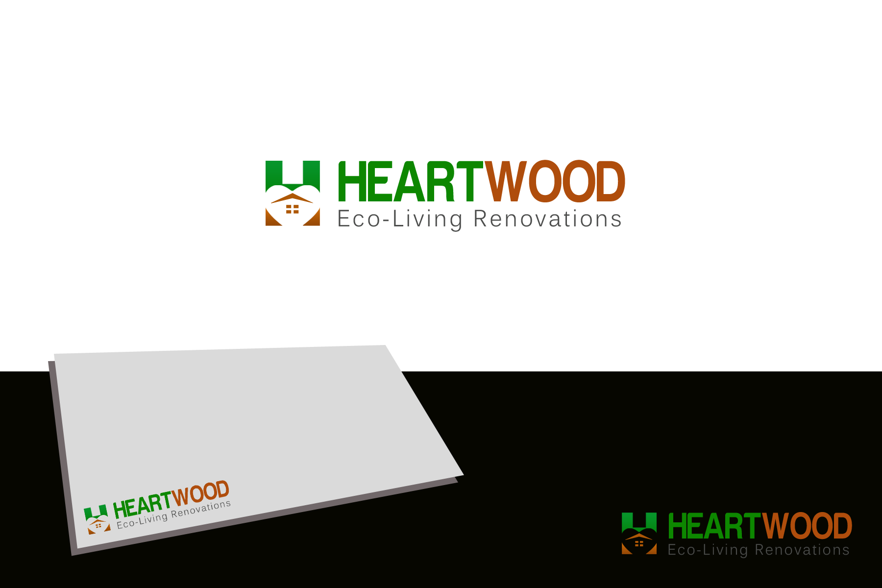 Logo Design by golden-hand - Entry No. 15 in the Logo Design Contest New Logo Design for Heartwood Eco-Living Renovations.