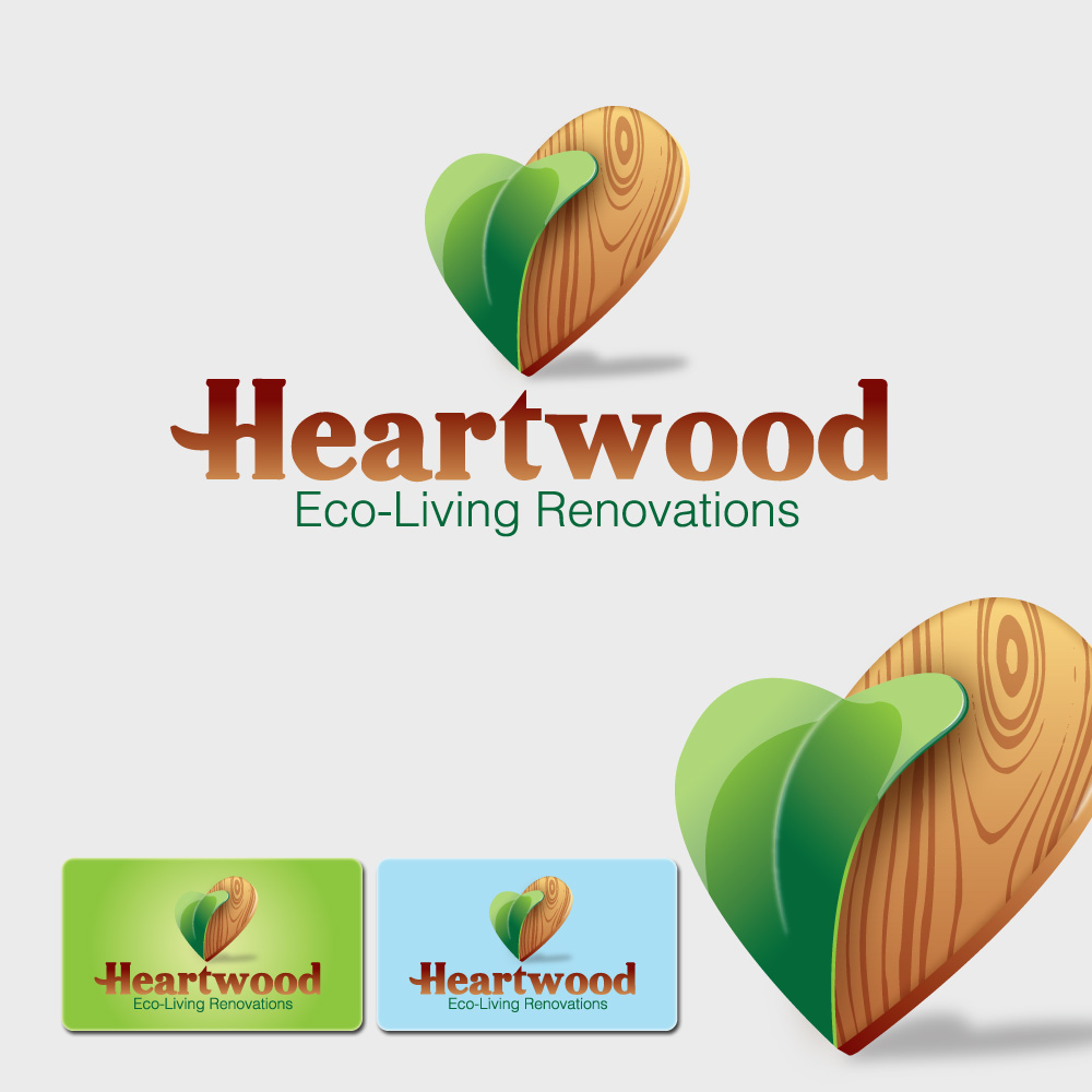 Logo Design by storm - Entry No. 16 in the Logo Design Contest New Logo Design for Heartwood Eco-Living Renovations.
