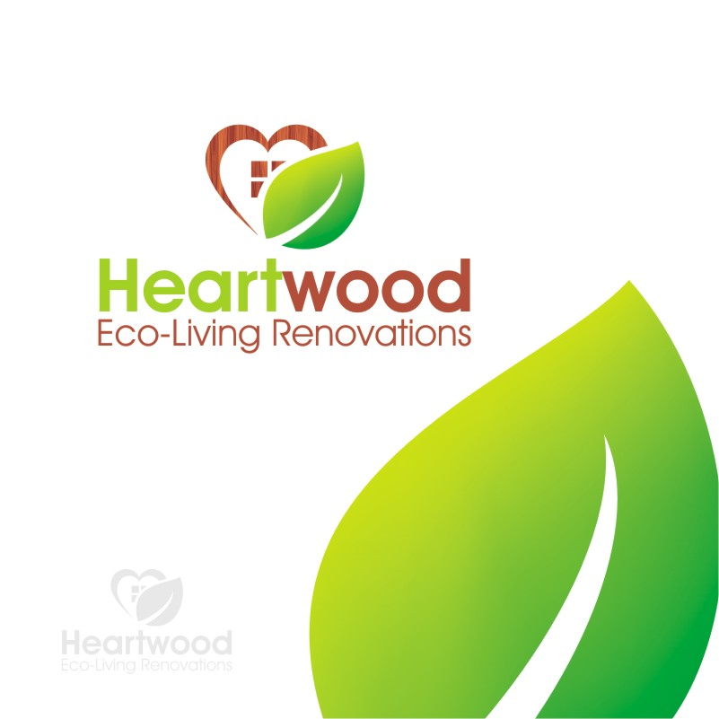 Logo Design by Private User - Entry No. 20 in the Logo Design Contest New Logo Design for Heartwood Eco-Living Renovations.
