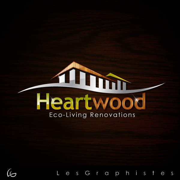 Logo Design by Les-Graphistes - Entry No. 21 in the Logo Design Contest New Logo Design for Heartwood Eco-Living Renovations.