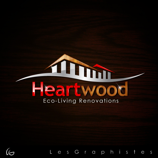 Logo Design by Les-Graphistes - Entry No. 22 in the Logo Design Contest New Logo Design for Heartwood Eco-Living Renovations.
