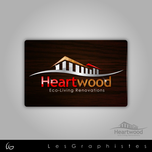Logo Design by Les-Graphistes - Entry No. 23 in the Logo Design Contest New Logo Design for Heartwood Eco-Living Renovations.