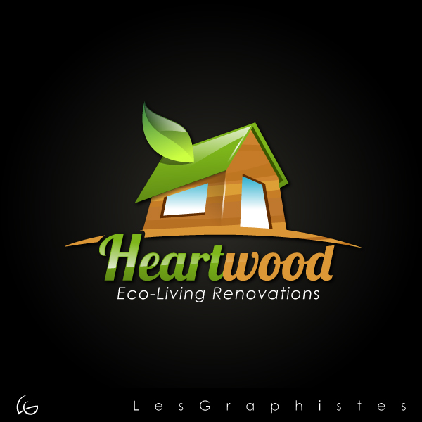 Logo Design by Les-Graphistes - Entry No. 24 in the Logo Design Contest New Logo Design for Heartwood Eco-Living Renovations.