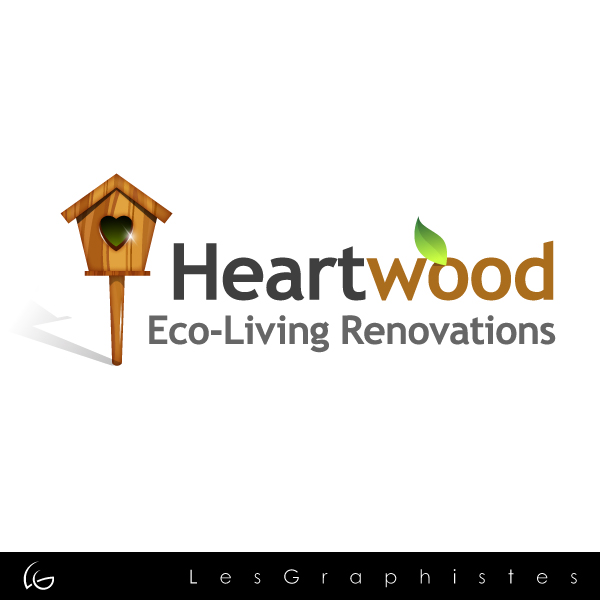 Logo Design by Les-Graphistes - Entry No. 25 in the Logo Design Contest New Logo Design for Heartwood Eco-Living Renovations.