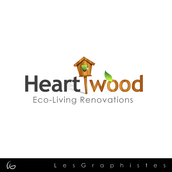 Logo Design by Les-Graphistes - Entry No. 26 in the Logo Design Contest New Logo Design for Heartwood Eco-Living Renovations.
