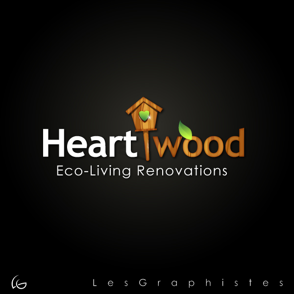 Logo Design by Les-Graphistes - Entry No. 27 in the Logo Design Contest New Logo Design for Heartwood Eco-Living Renovations.