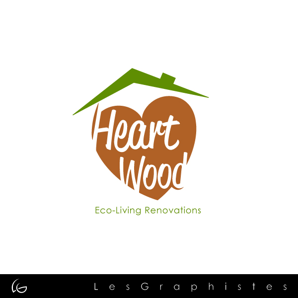 Logo Design by Les-Graphistes - Entry No. 28 in the Logo Design Contest New Logo Design for Heartwood Eco-Living Renovations.