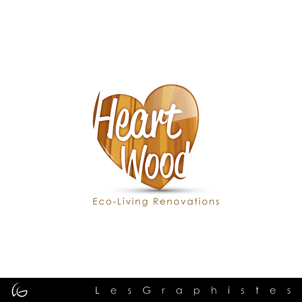 Logo Design by Les-Graphistes - Entry No. 29 in the Logo Design Contest New Logo Design for Heartwood Eco-Living Renovations.
