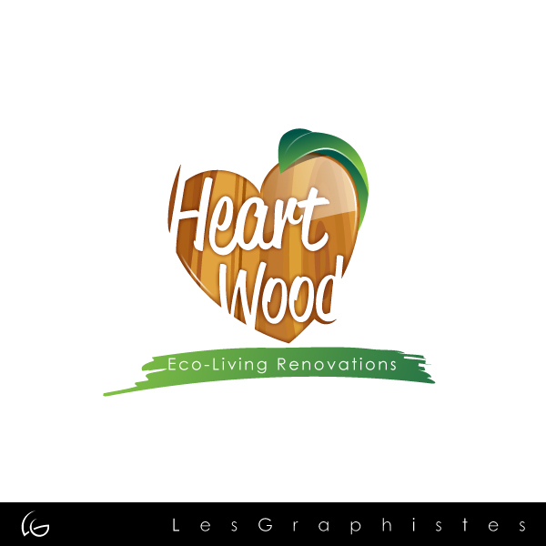 Logo Design by Les-Graphistes - Entry No. 31 in the Logo Design Contest New Logo Design for Heartwood Eco-Living Renovations.