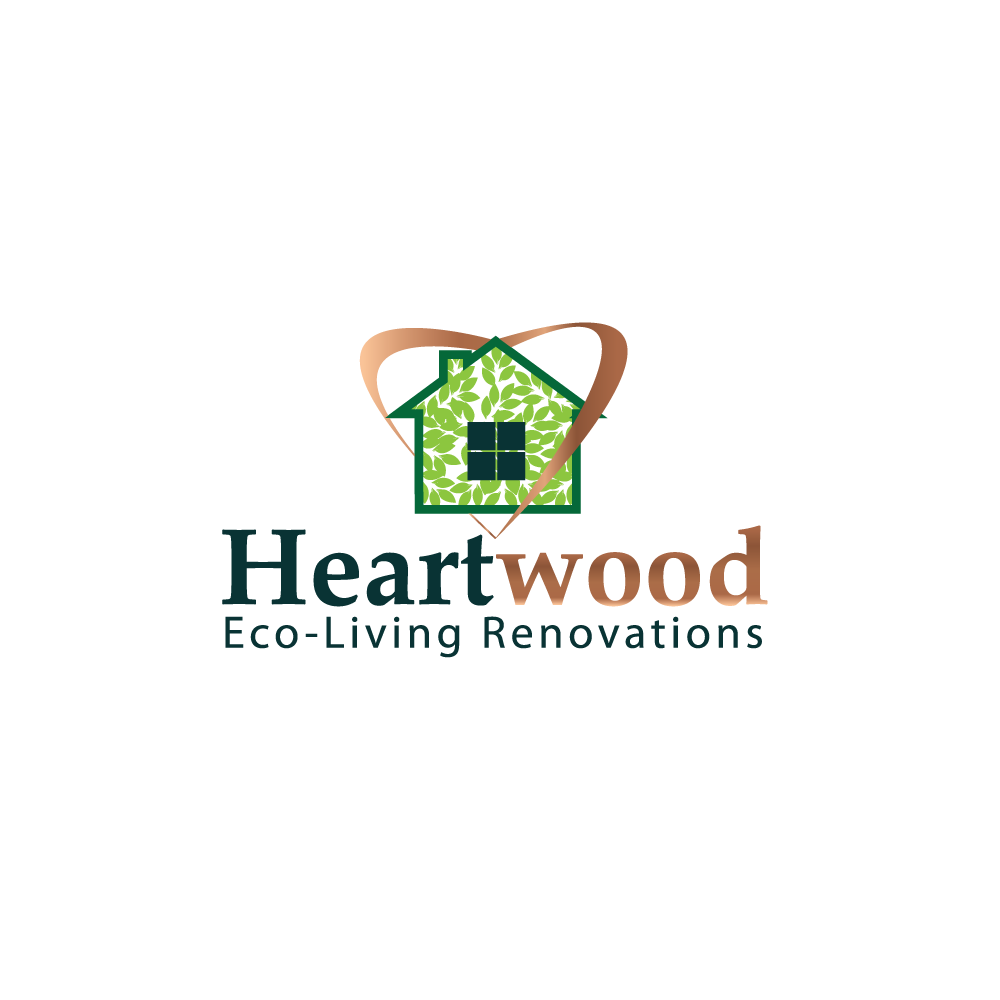 Logo Design by rockin - Entry No. 32 in the Logo Design Contest New Logo Design for Heartwood Eco-Living Renovations.