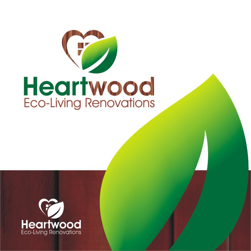 Logo Design by Private User - Entry No. 34 in the Logo Design Contest New Logo Design for Heartwood Eco-Living Renovations.