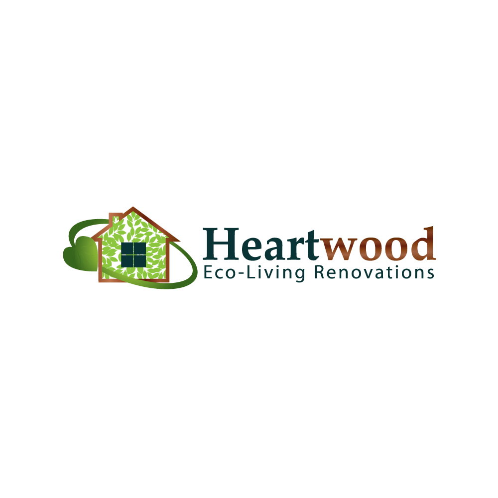 Logo Design by rockin - Entry No. 35 in the Logo Design Contest New Logo Design for Heartwood Eco-Living Renovations.