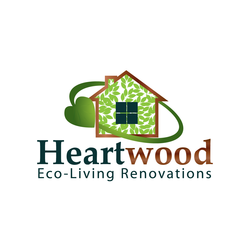 Logo Design by rockin - Entry No. 36 in the Logo Design Contest New Logo Design for Heartwood Eco-Living Renovations.