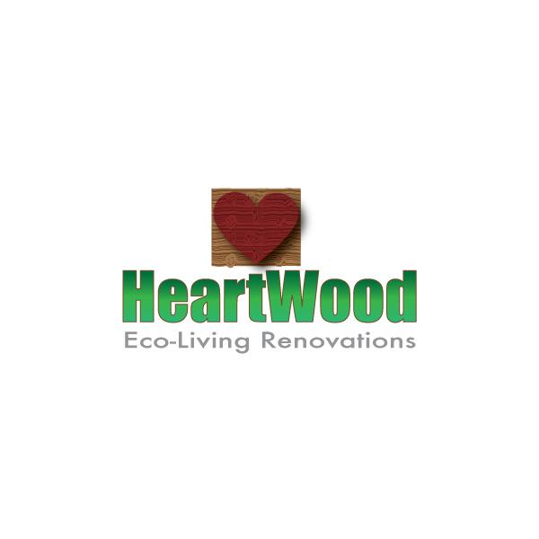 Logo Design by Diana Roder - Entry No. 37 in the Logo Design Contest New Logo Design for Heartwood Eco-Living Renovations.
