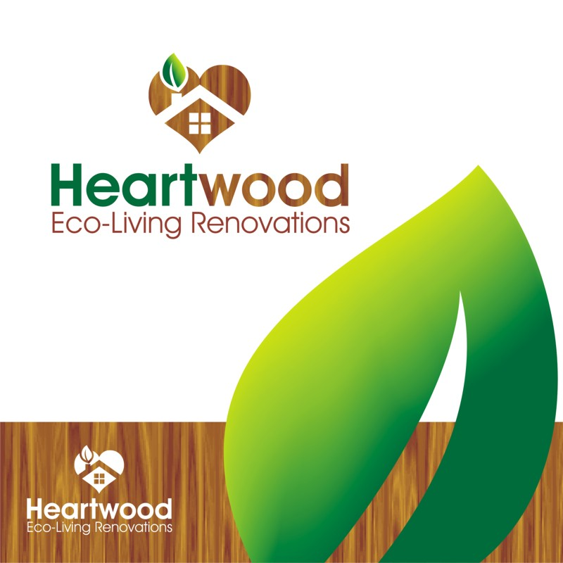 Logo Design by Private User - Entry No. 38 in the Logo Design Contest New Logo Design for Heartwood Eco-Living Renovations.