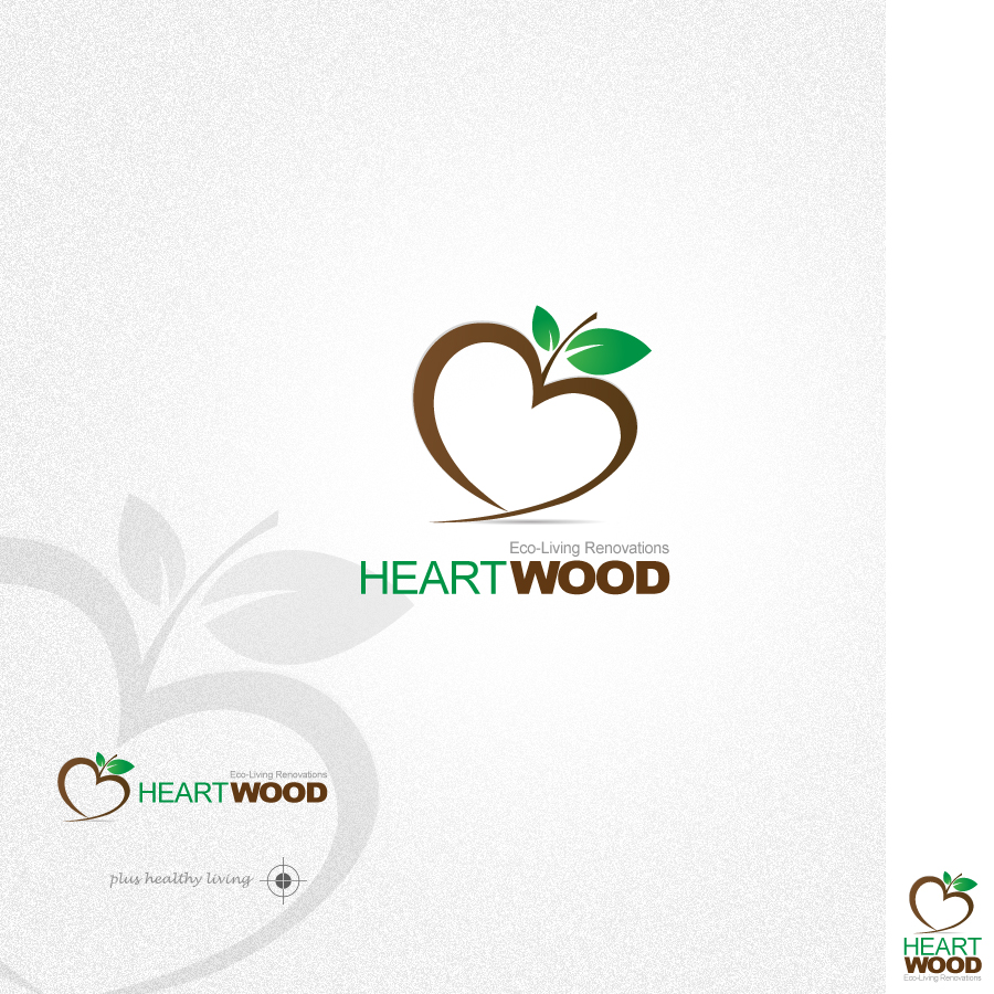 Logo Design by rockpinoy - Entry No. 39 in the Logo Design Contest New Logo Design for Heartwood Eco-Living Renovations.