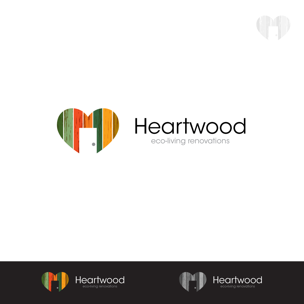 Logo Design by zesthar - Entry No. 40 in the Logo Design Contest New Logo Design for Heartwood Eco-Living Renovations.