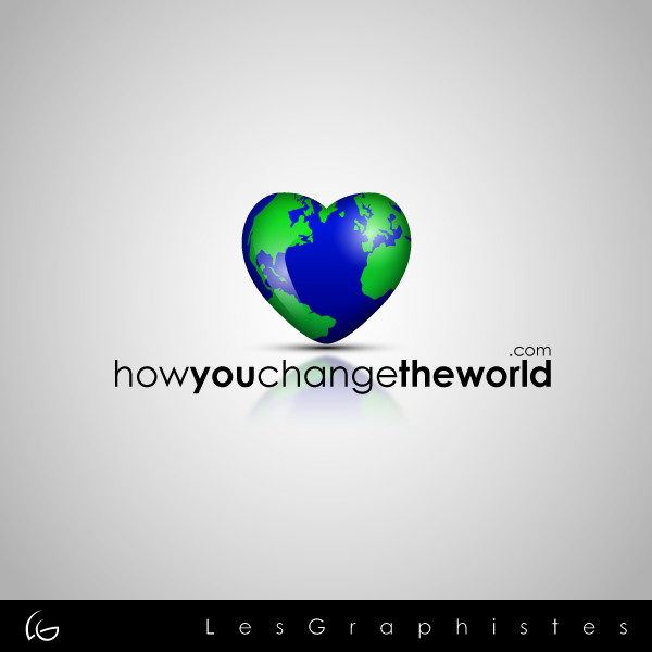 Logo Design by Les-Graphistes - Entry No. 13 in the Logo Design Contest Logo Design Needed for Exciting New Company HowYouChangeTheWorld.com.