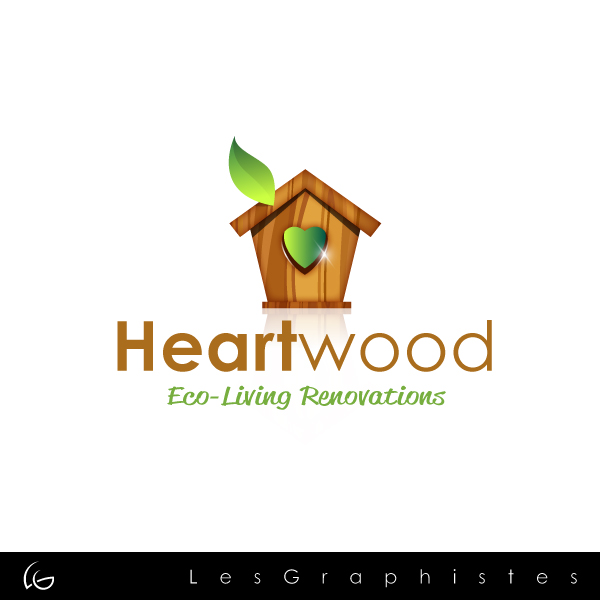 Logo Design by Les-Graphistes - Entry No. 44 in the Logo Design Contest New Logo Design for Heartwood Eco-Living Renovations.