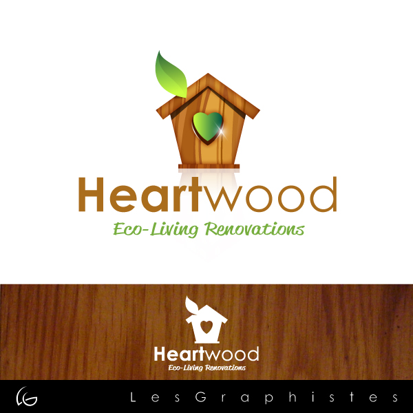 Logo Design by Les-Graphistes - Entry No. 45 in the Logo Design Contest New Logo Design for Heartwood Eco-Living Renovations.
