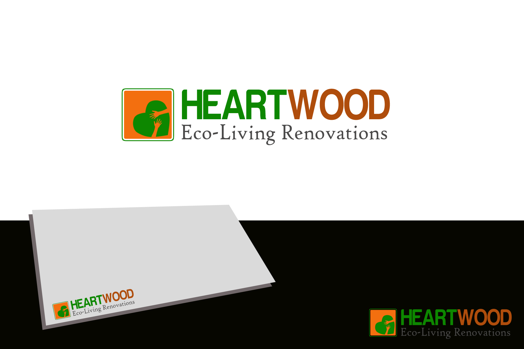 Logo Design by Golden_Hand - Entry No. 46 in the Logo Design Contest New Logo Design for Heartwood Eco-Living Renovations.