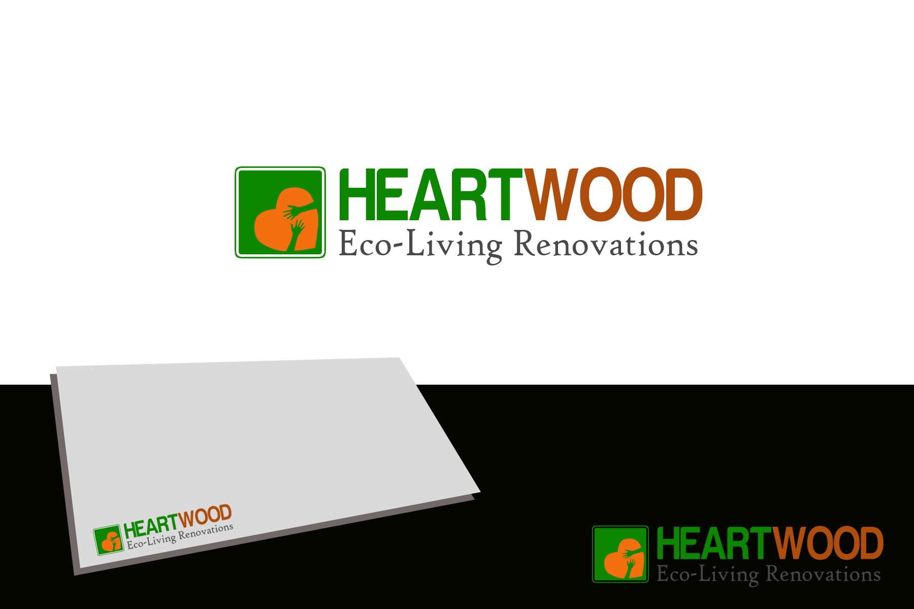 Logo Design by Golden_Hand - Entry No. 47 in the Logo Design Contest New Logo Design for Heartwood Eco-Living Renovations.