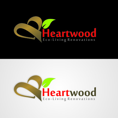 Logo Design by arteo_design - Entry No. 55 in the Logo Design Contest New Logo Design for Heartwood Eco-Living Renovations.
