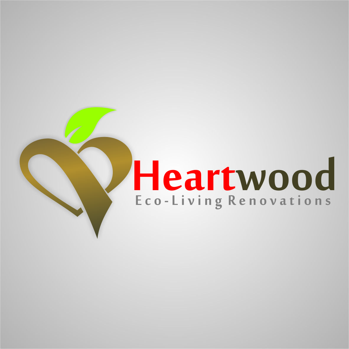 Logo Design by arteo_design - Entry No. 59 in the Logo Design Contest New Logo Design for Heartwood Eco-Living Renovations.