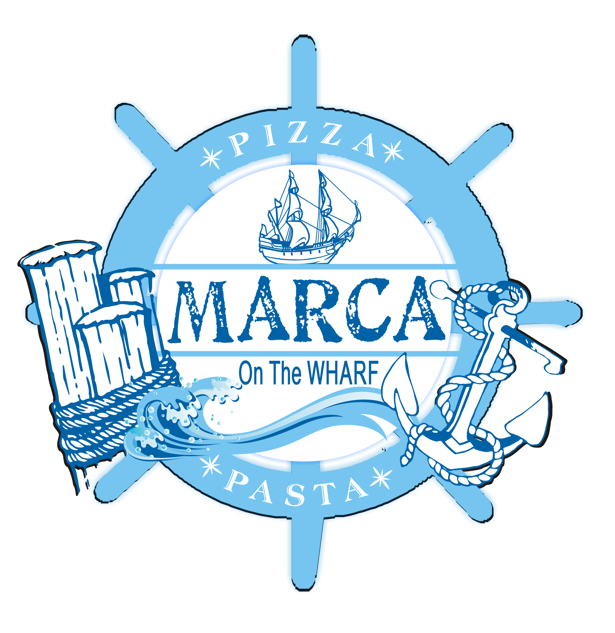 Logo Design by innocentangel707 - Entry No. 11 in the Logo Design Contest New Logo Design for Marca on the Wharf.