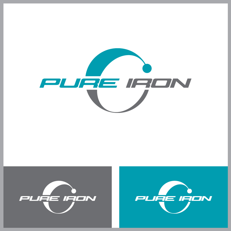 Logo Design by Number-Eight-Design - Entry No. 4 in the Logo Design Contest Fun Logo Design for Pure Iron.