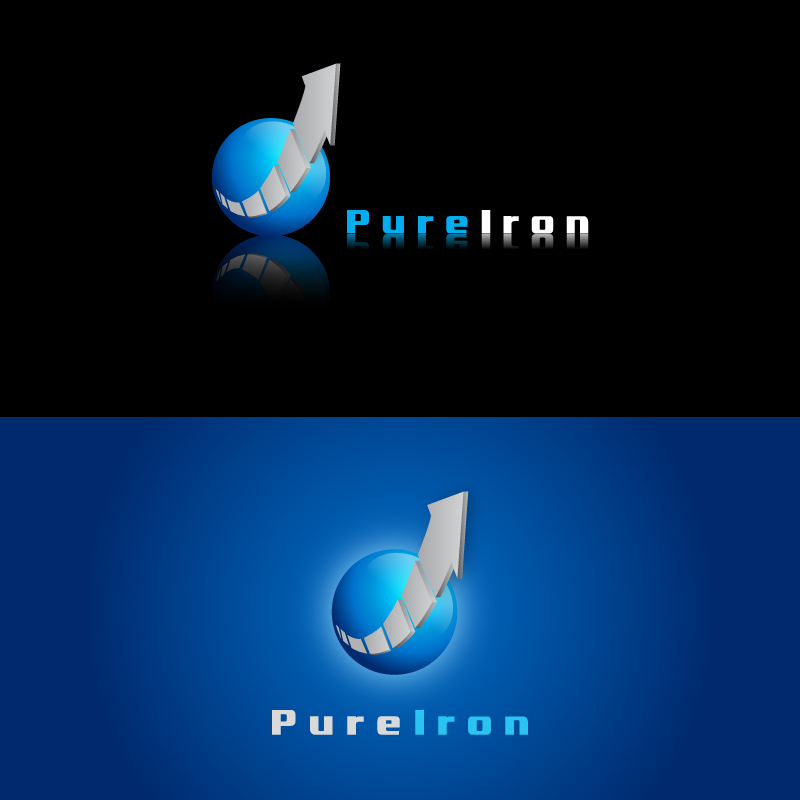 Logo Design by trav - Entry No. 11 in the Logo Design Contest Fun Logo Design for Pure Iron.
